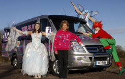 Crafty Arty Party and their Mercedes Sprinter van