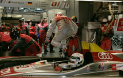 Pit stop for the winning Audi R10