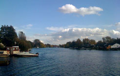 View looking down the Thames towards Hampton Court