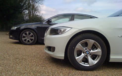 Audi A6 TDIe and BMW 320d EfficientDynamics side by side