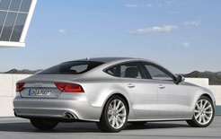 Rear view of new Audi A7 Sportback