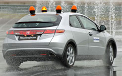 Honda Civic shows benefits of ESP on a Bosch test track