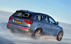 Audi Q7 driving in the snow