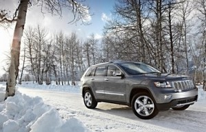 Big prestige SUVs, like this Jeep Grand Cherokee, have lost their value now that the winter months have passed