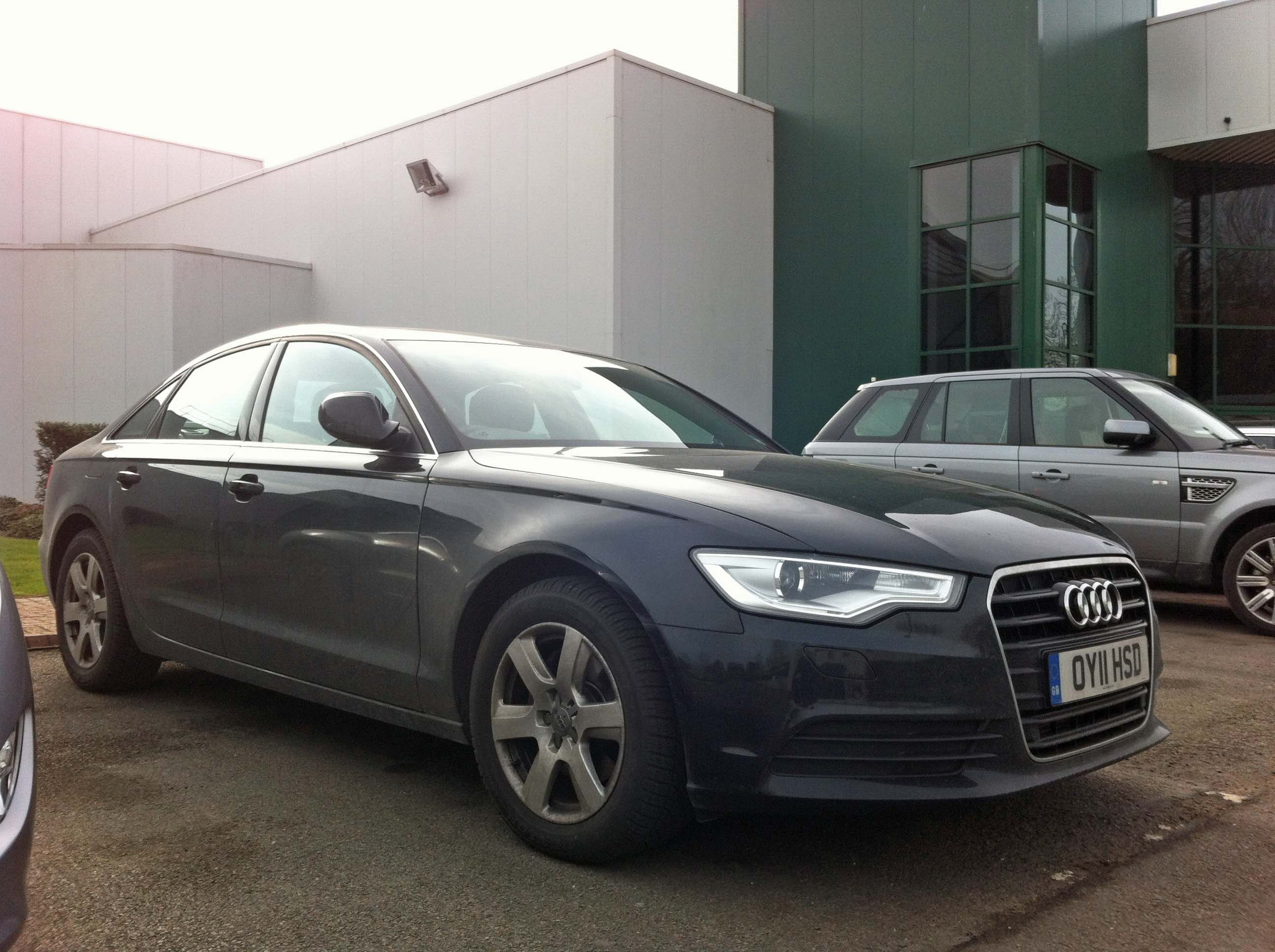 Editor's Audi A6 2.0 TDI SE at the Jaguar Whitley Engineering Centre