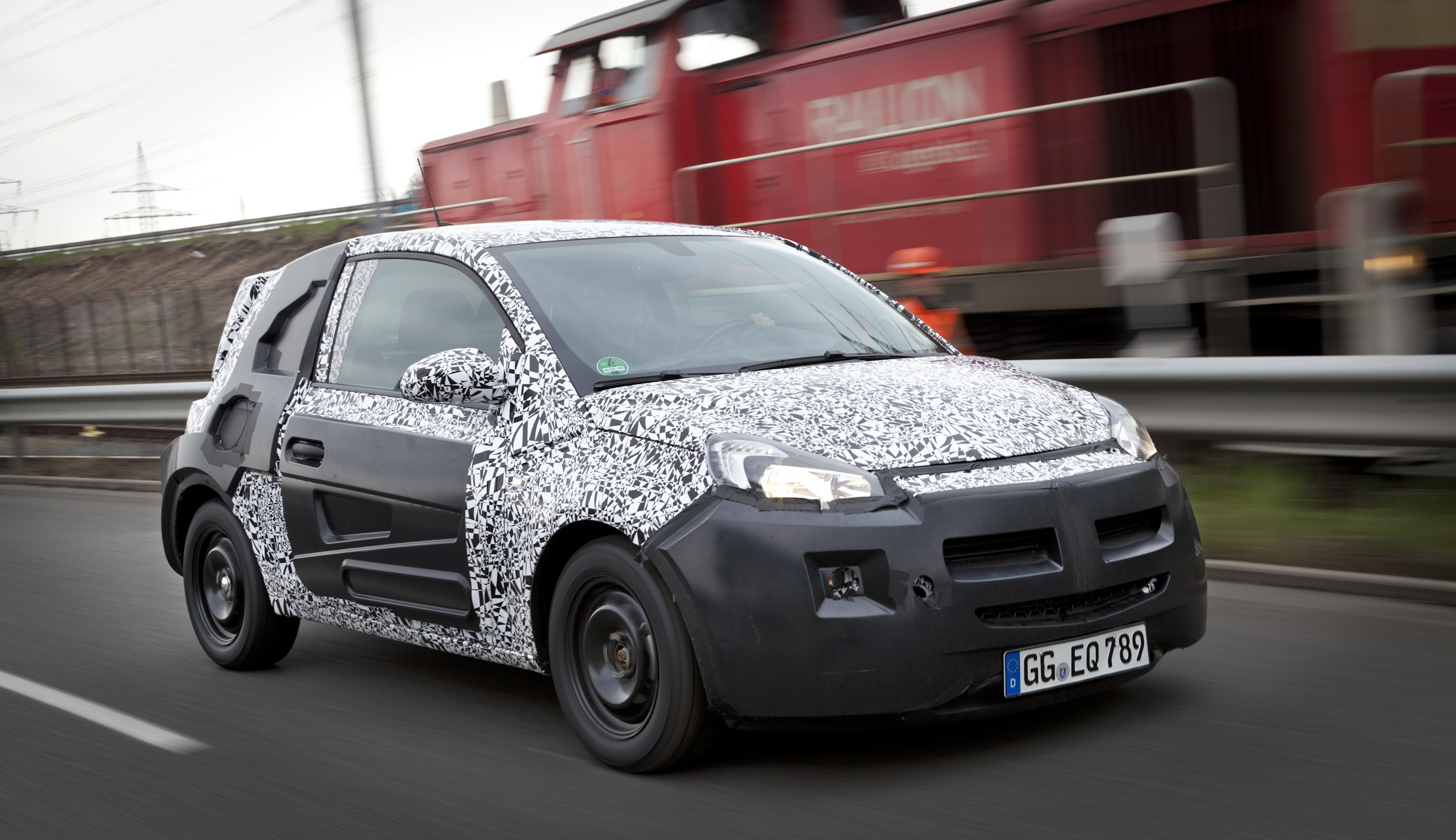 The new Vauxhall city car, the Adam