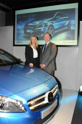 ACFO chairman Julie Jenner with Nick Andrews head of fleet at Mercedes