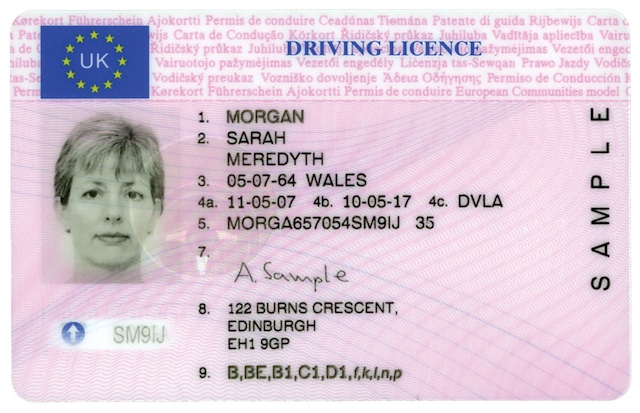 Checking A Driving Licence Business Car Manager
