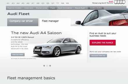 New-look Audi Fleet website