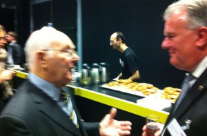 Murray Walker talks to ICFM chairman Roddy Graham