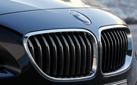 BMW badge and grille