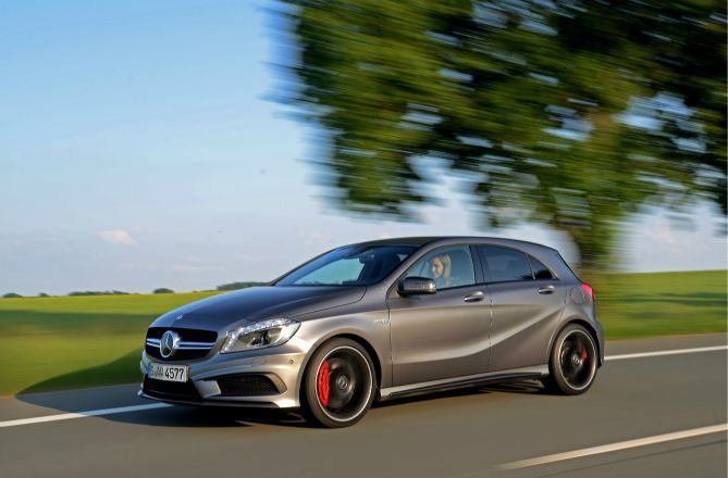 The Mercedes A 45 AMG