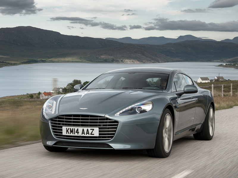 Aston, Martin, Rapide, front, at, speed