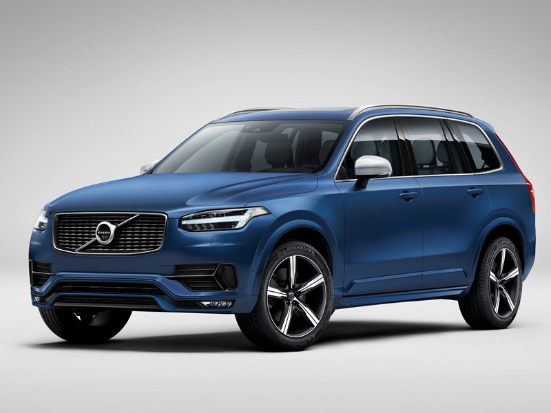 Volvo, XC90, R-Design, blue