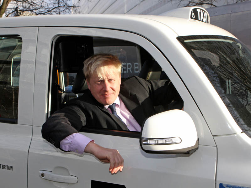 Boris, Johnson, in, cab