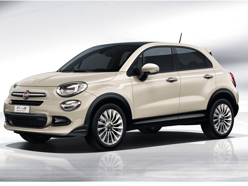 Fiat, 500X, side, view, parked