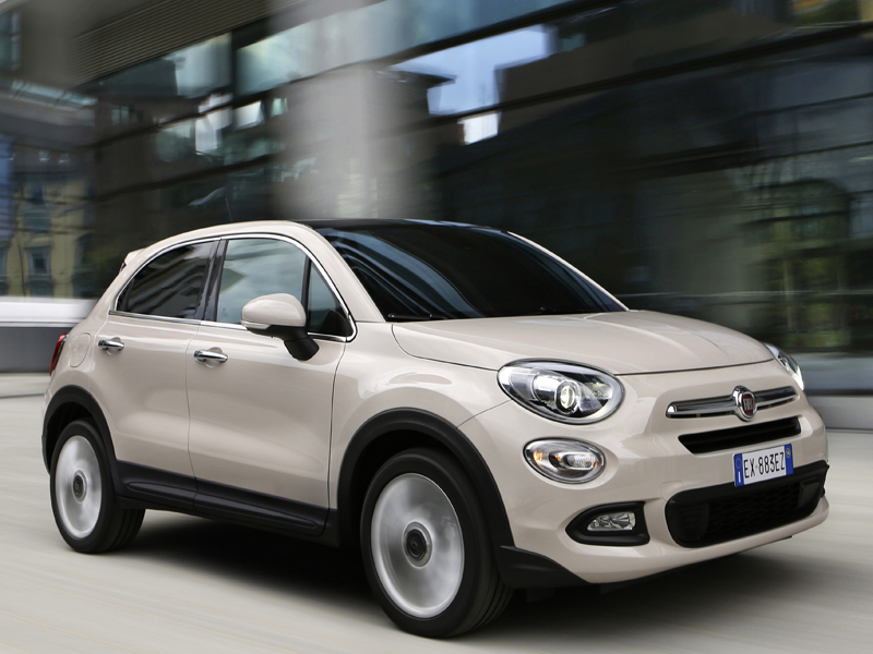 Fiat, 500X, Lounge, front, three-quarter, at , speed