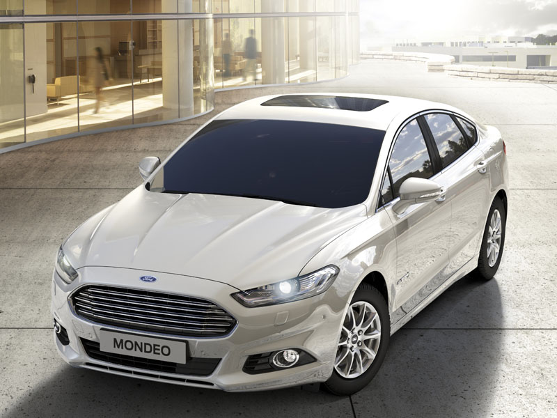 Ford, Mondeo, Hybrid, front, three, quarter