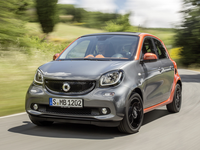 Smart, ForFour, five, door, moving