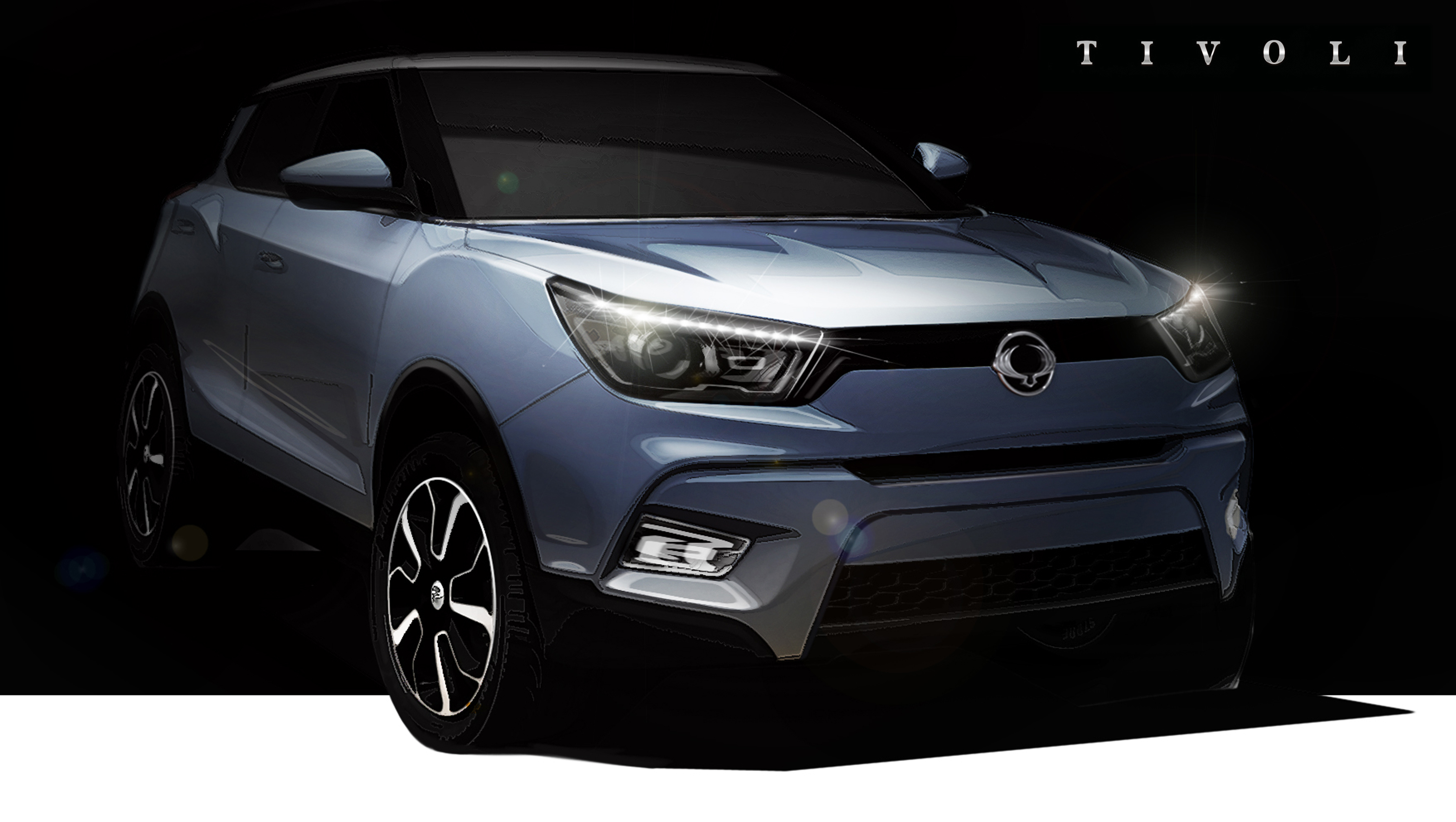 Ssangyong, Tivoli, sketch, front