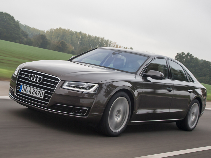 Facelifted, Audi, A8, front , at speed