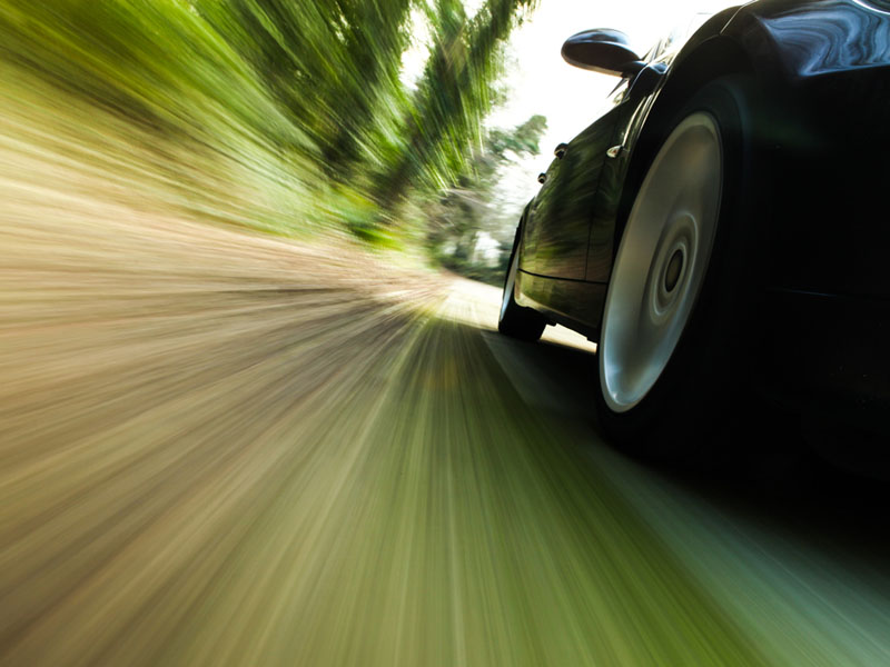 picture of car at speed