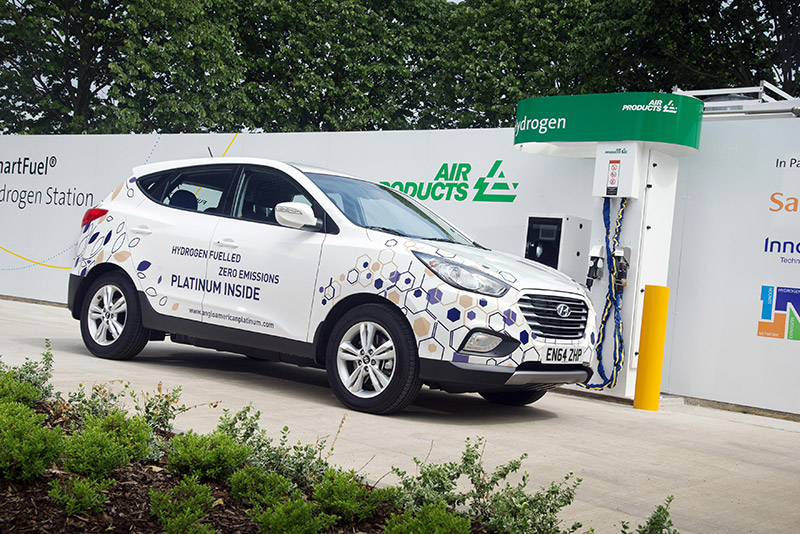 The Hyundai ix35 Fuel Cell is the world's first mass-produced fuel cell electric vehicle
