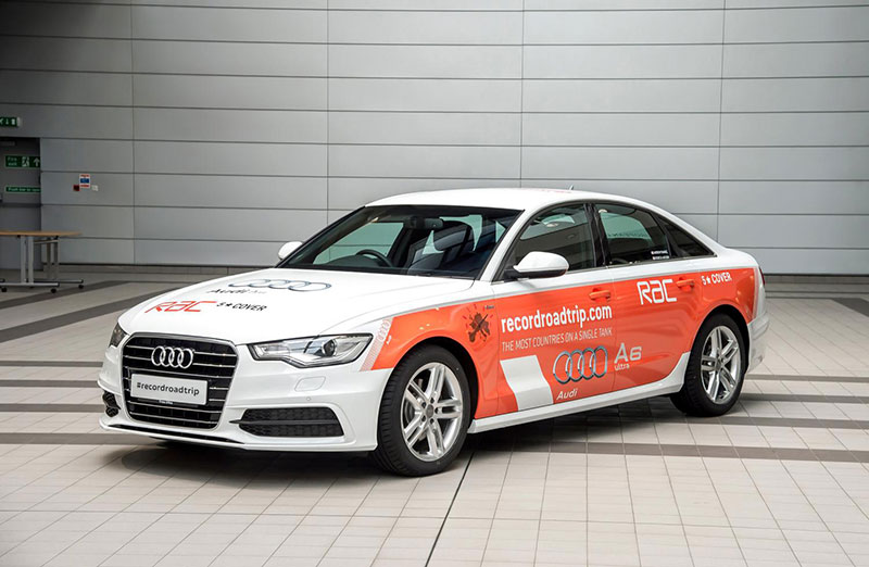 Country hopping Audi A6 aims for record books