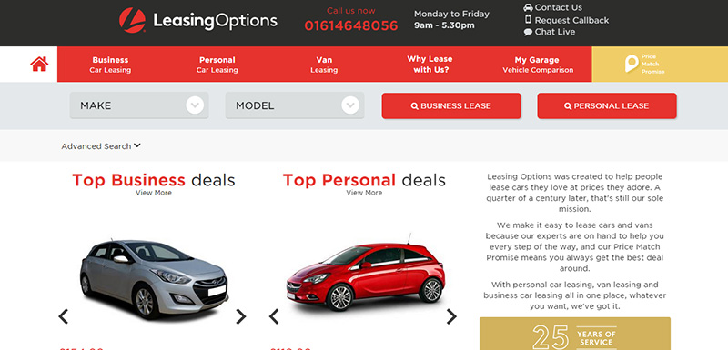 Leasing Options Launches Online Quotation Website