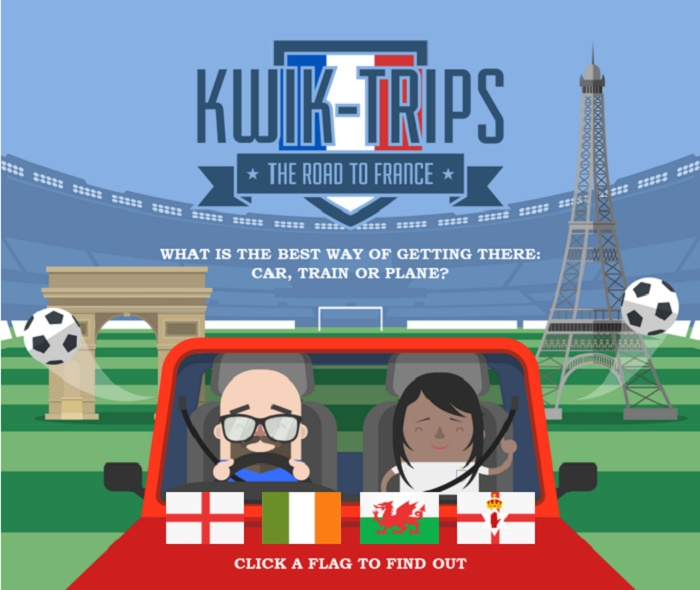 The Kwik Fit Kwik-Trips alternative transport routes from England to France for Euro 2016