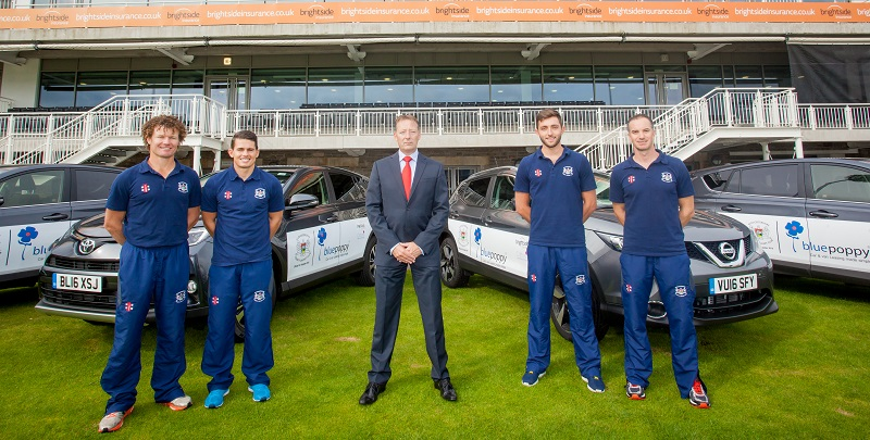 Bluepoppy MD Andrew Starr with Gloucestershire CCC drivers
