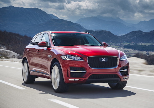 Jaguar F-Pace in Italian Racing Red