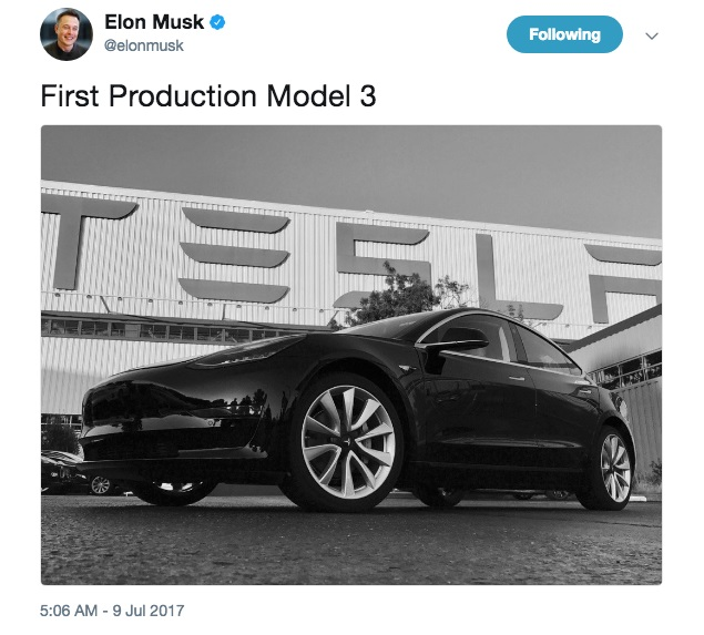 First Production Model 3 1