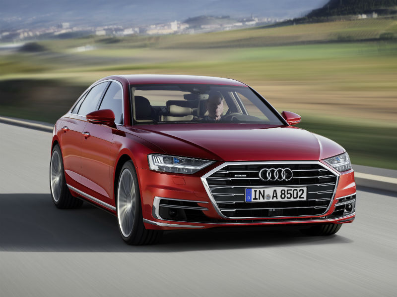 Audi A8 with active ride suspension