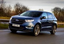 Ford Edge ST Line front three quart dynamic 3