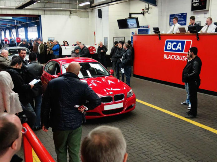 Used car sales in BCA auction