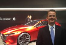 Jeremy Thomson with Kai Concept at Tokyo Motor Show