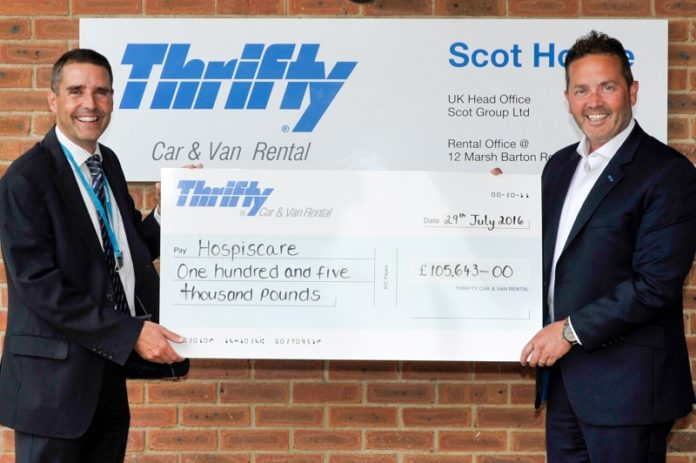 Thrifty has topped £100k