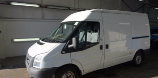 An Essential Fleet Ford Transit sold at a CD Auction Group sale