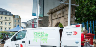 Nissan e-NV200 electric van used by Jersey Post