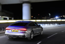 Audi A7 Sportback review rear shot moving