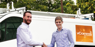 Ryan Godfrey left newly appointed head of vComms with vGroup International managing director James Nash