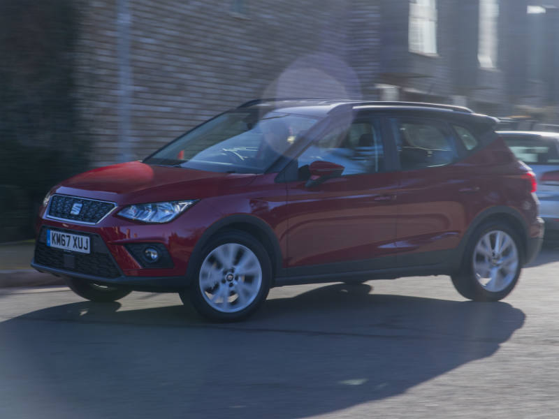 SEAT Arona review picture of car cornering