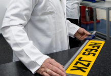 The vPlate number plate being independently tested pic