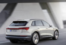 Audi e-tron moving rear threequarters