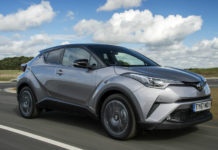 Hybrids, such as the Toyota C-HR above, proved immensely popular: 1 in 12 registrations were for electrified powertrains