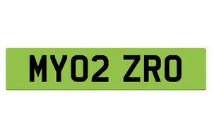 Green number plate