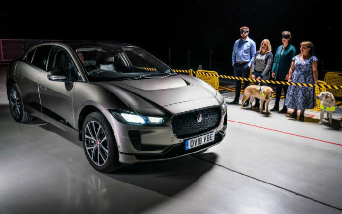 Jaguar I-Pace with Audible Vehicle Alert System (AVAS)