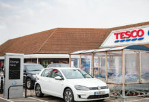 Volkswagen Golf at at a Tesco Pod Point EV charger