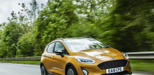 Ford Fiesta Active review front three quarters action